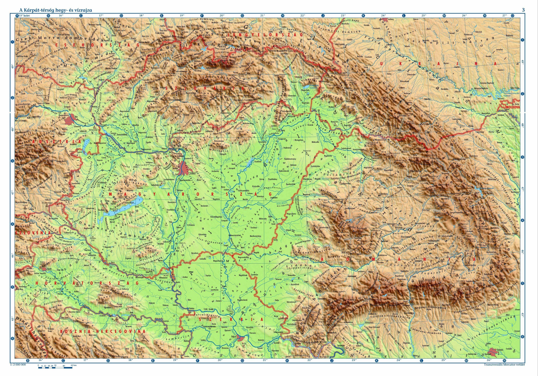 domborzati térkép magyar Online térképek: Kárpát medence domborzati térkép | térkép  domborzati térkép magyar
