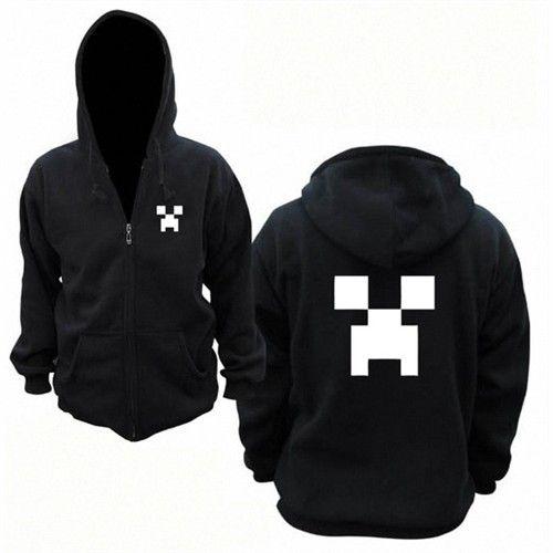 Minecraft Unisex Long Sleeve Hooded Coat - Blue Products- - TopBuy.com.au