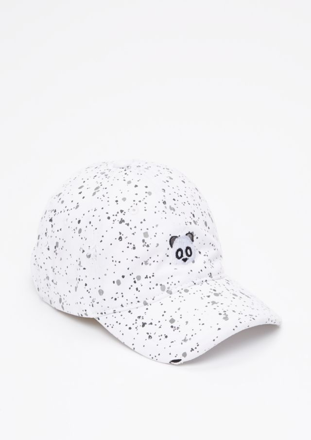 3ef92507482 image of Embroidered Panda Paint Splatter Dad Hat