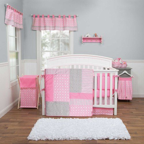Lily 4 Piece Baby Crib Bedding Set With Bumper By Trend