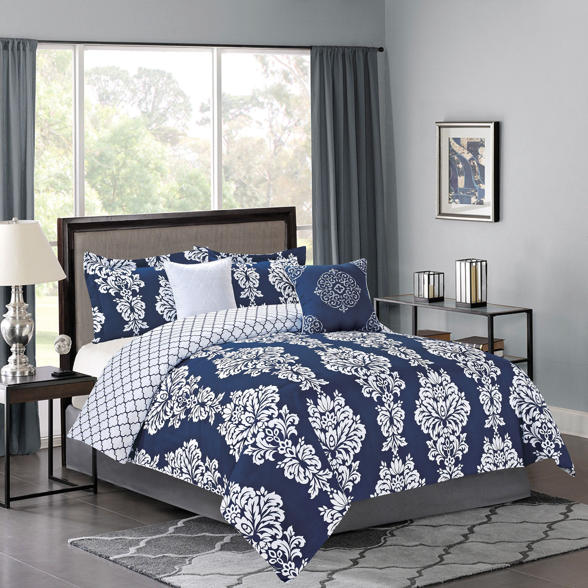 5 Piece Nancy Comforter Bedding Set Home Home Decor Guest Bedroom