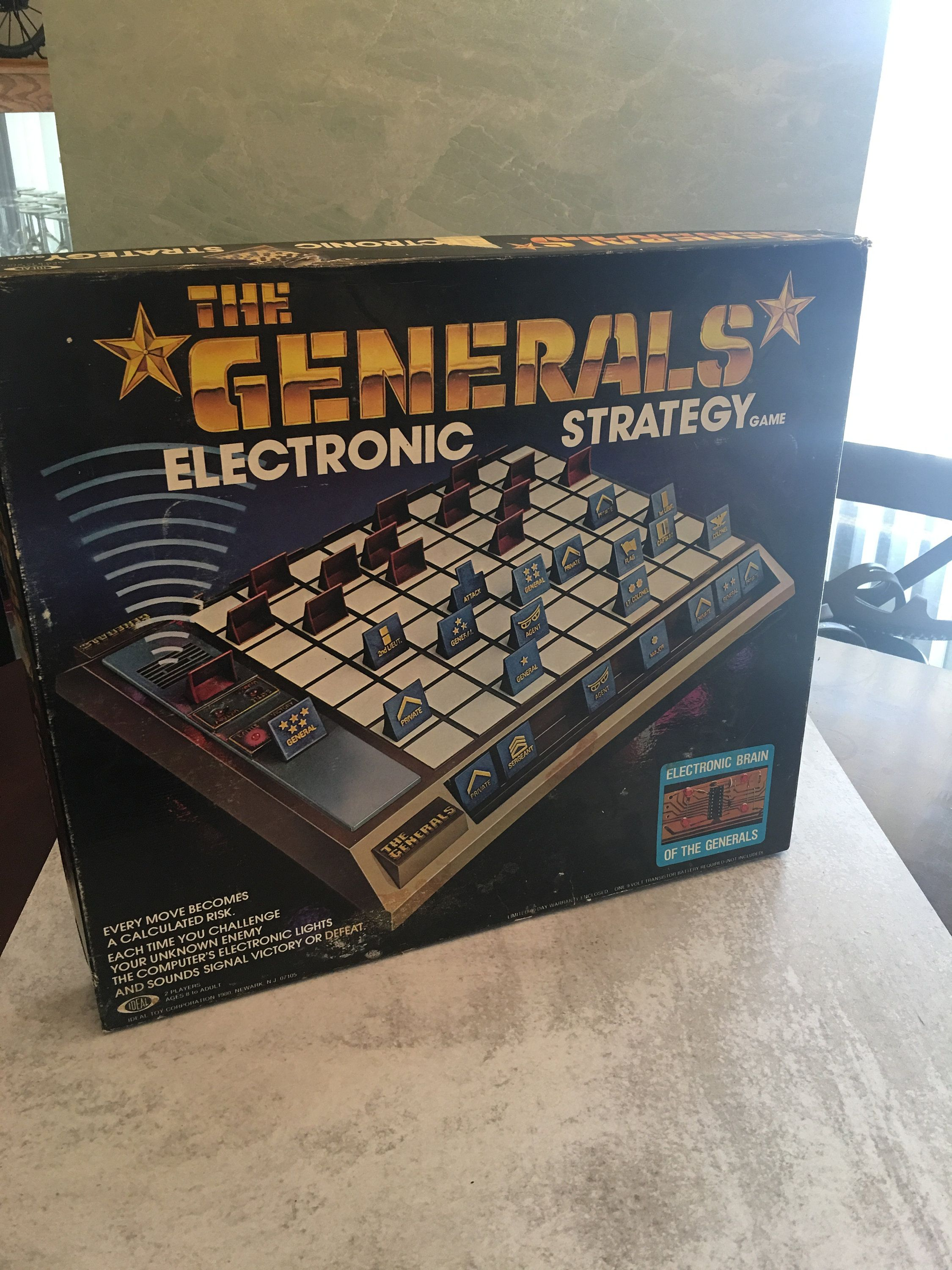 Vintage Ideal WORKING 1980 THE GENERALS Electronic