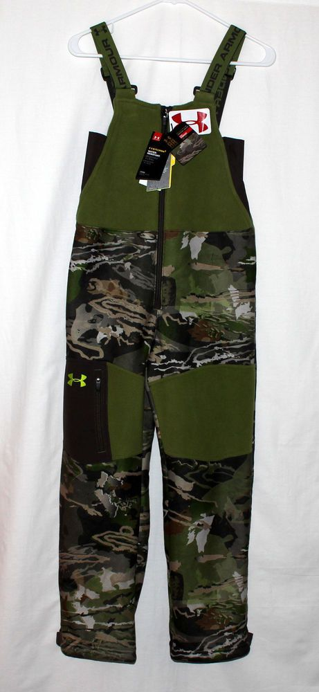 382c3d8317d6d NEW Under Armour Boys Stealth Bib Hunting Ridge Reaper Forest Pants Youth  Medium #UnderArmourApparel