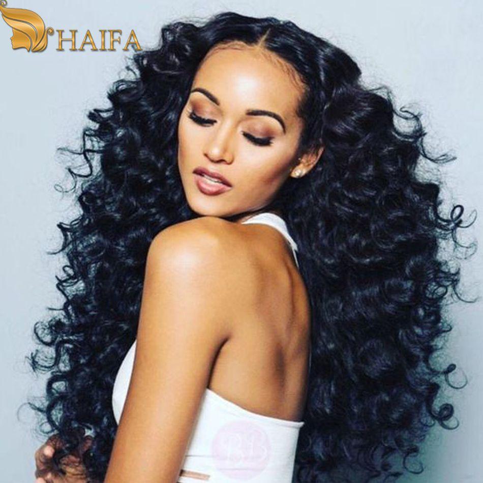 Peruvian Virgin Hair Deep Curly 100 Percent Human Hair Weave Bundles