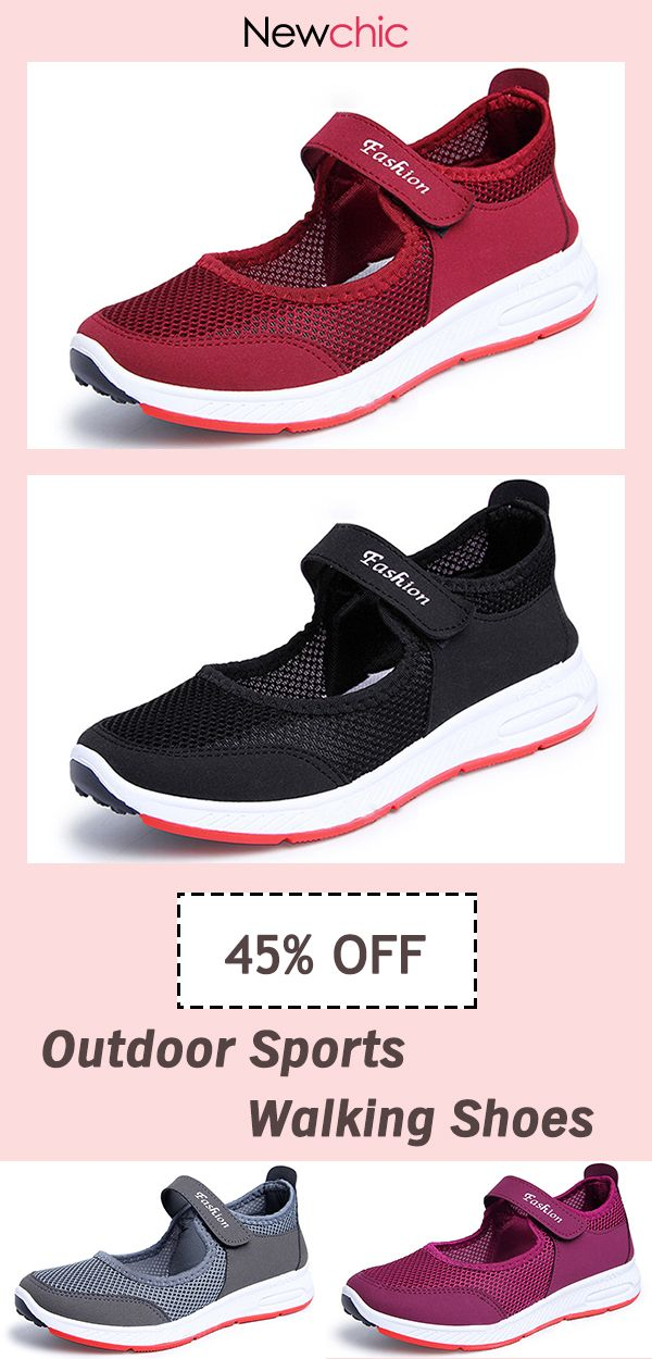 fe92bf5febe50  45% OFF Women Outdoor Sports Walking Mesh Hook Loop Shoes womenfashion   fashionideas  wishlist  goodshoes