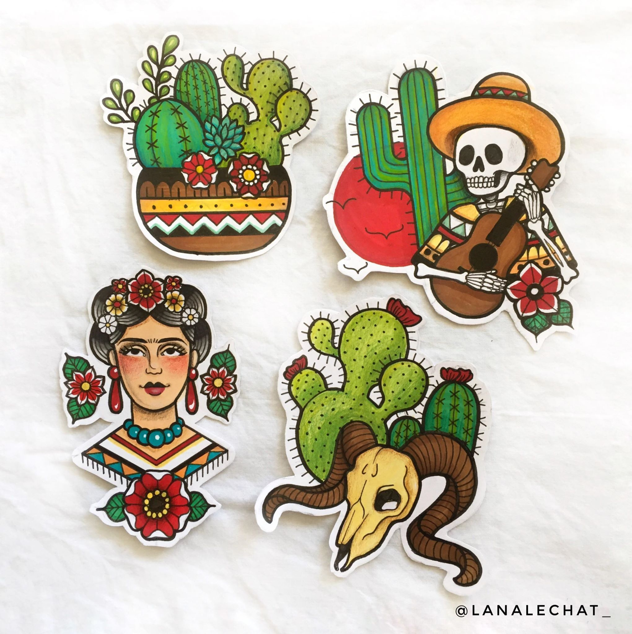 Mexican tattoo Calavera tattoo Old school tattoo Inked Cactus tattoo Frida Kahlo Tattoo
