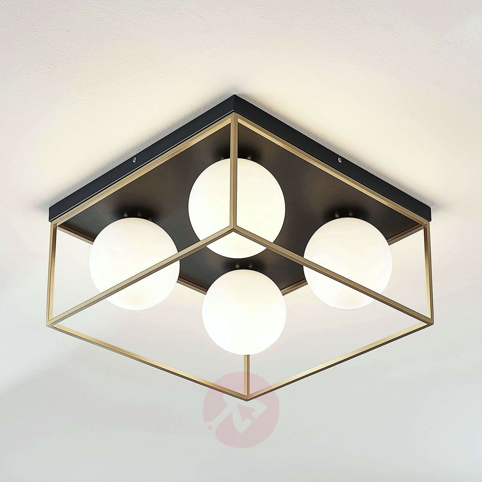 Lampa Sufitowa Led Aloam Z 4 Szklanymi Kulami Lampy Pl In 2020 Ceiling Lights Glass Globe Lindby