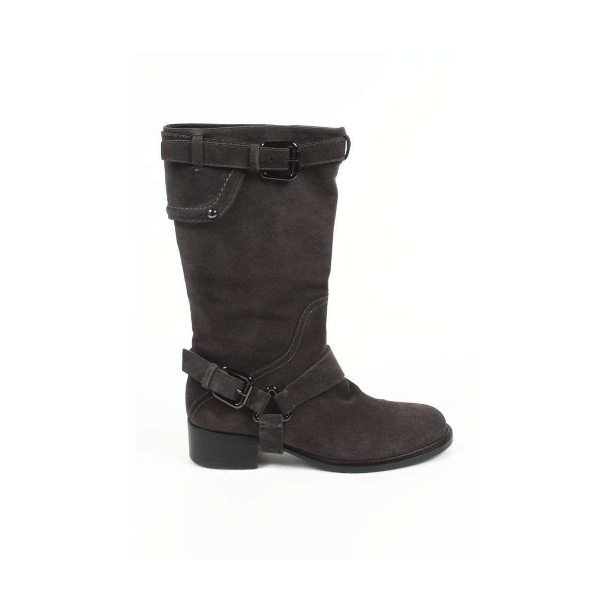 louboutin boots grigio