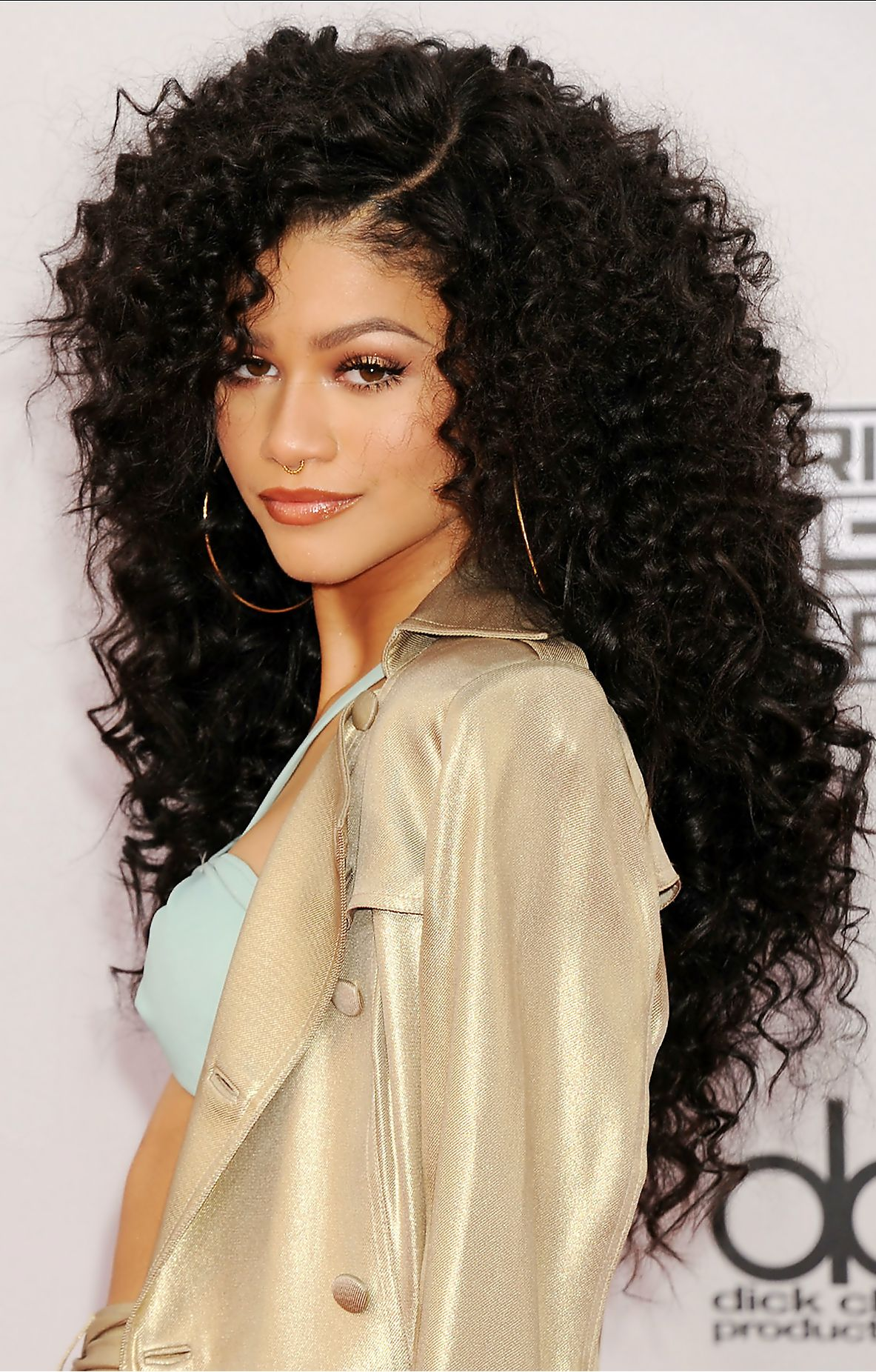 #zendaya curly hair