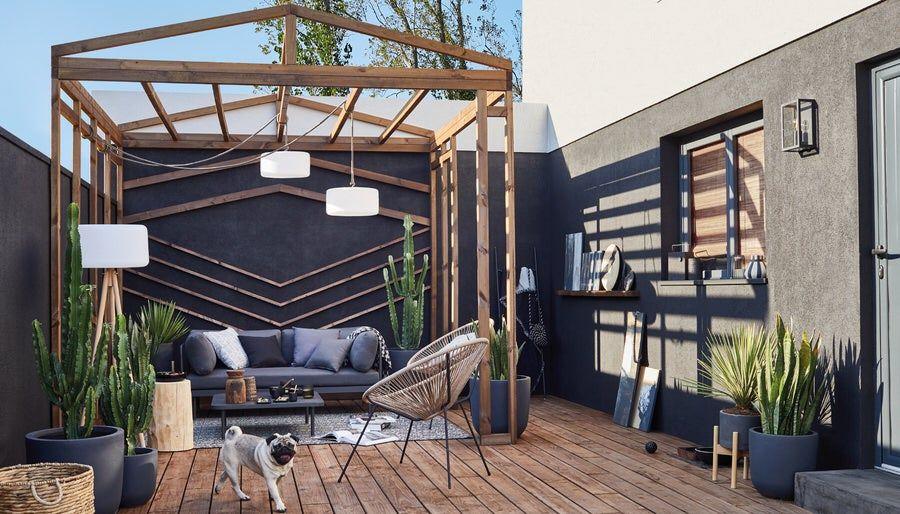 La Chaleur Du Nord Leroy Merlin Inspiration En 2020 Jardin Maison Deco Exterieur Jardin Amenagement Jardin