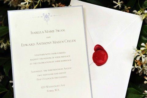Edward And Bella Wedding Invitation Twilight Saga Breaking Dawn Wedding Invitation Cards Wedding Invitations Twilight Wedding