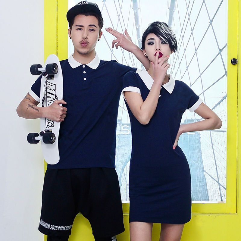 2015 Fashion Women men for Lovers Summer Clothes Couple T-shirt Dress #Unbranded #ShortSleeve
