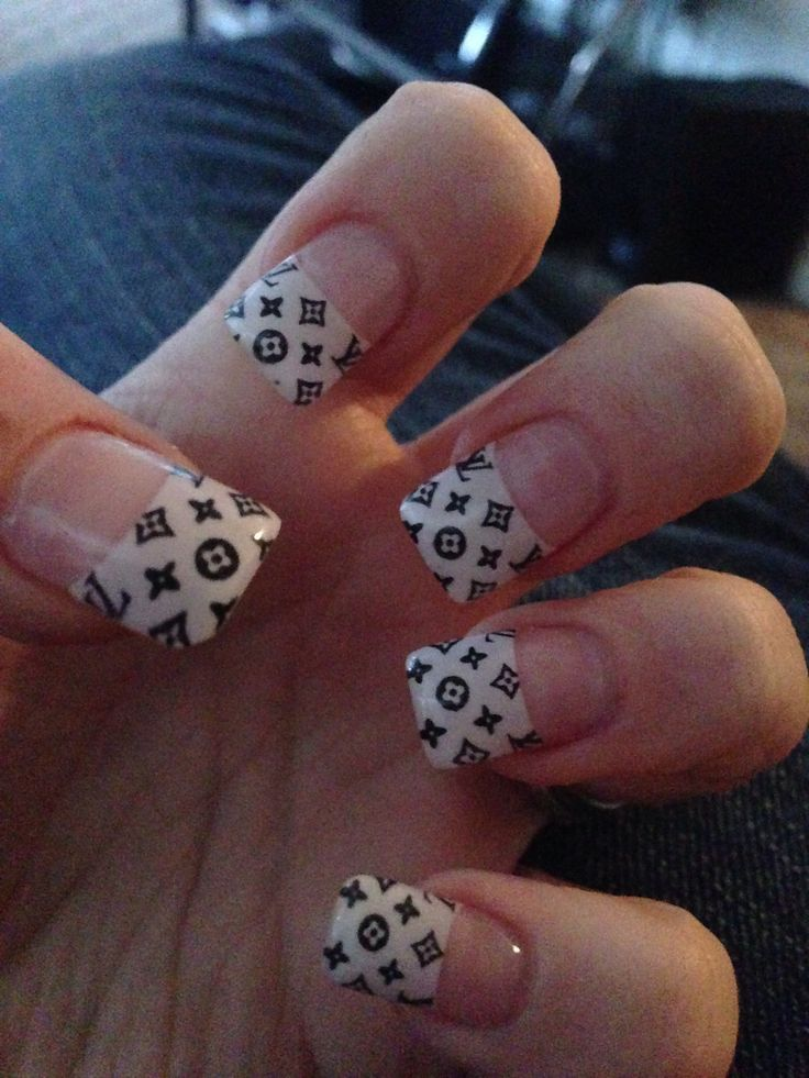 cool Black and White Louis Vuitton Nails | Designer Inspired ...