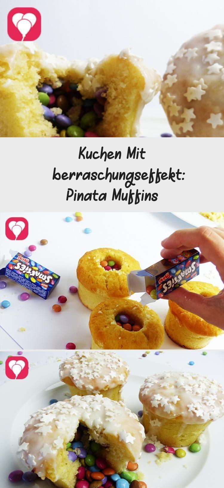 Photo of Kuchen mit Überraschungseffekt: Pinata Muffins – balloonas #PinataKuchenRezept …