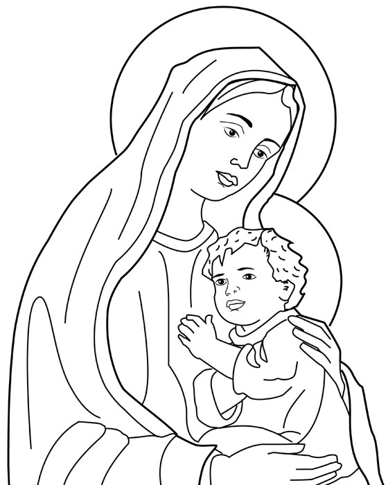 Compartiendo Por Amor Dibujos Virgen Maria Y El Nino Jesus Dibujos Nino Jesus Virgen Maria