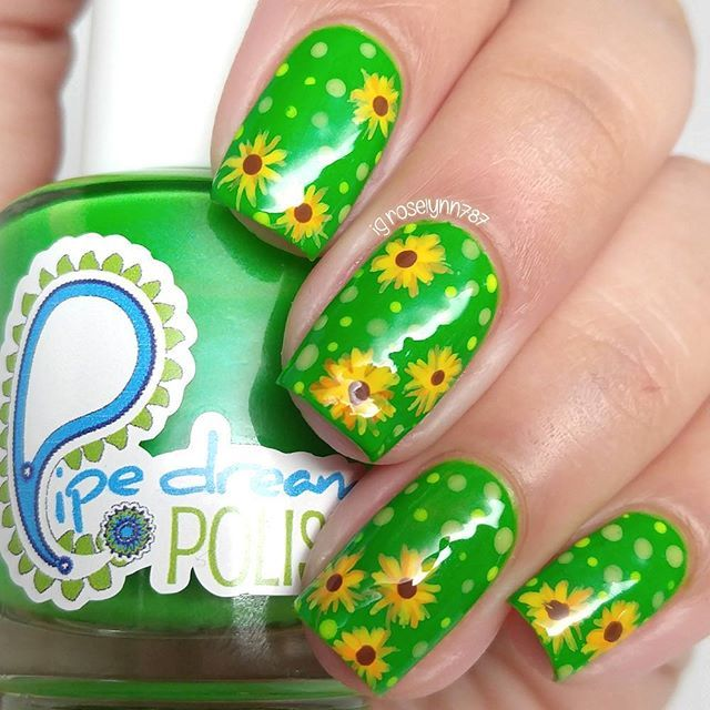 Pretty sunflower blooming nails #nailart #manicure | 10 Little ...