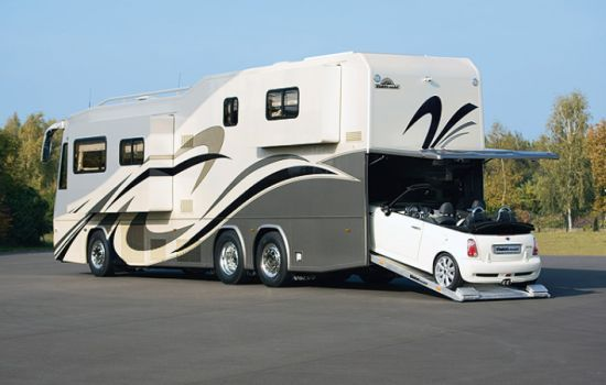 8 Awesome Car Carrying Motorhomes You Must See Con Imagenes