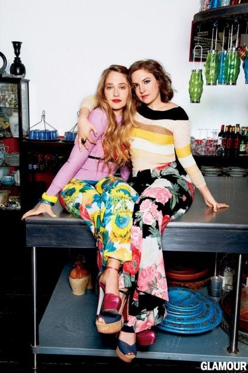 Jemima Kirk and Lena Dunham