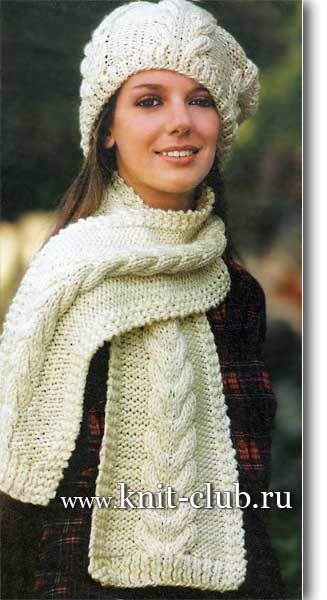 вязание спицами модели и схемы шарфы