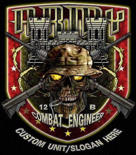 12 Bravo Combat Engineer Army Mos Shirt Essayons91st Pinterest