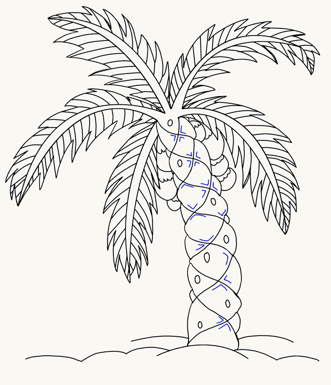 How To Draw A Palm Tree Really Easy Drawing Tutorial Palm Tree Drawing Palm Tree Drawing Easy Tree Drawing