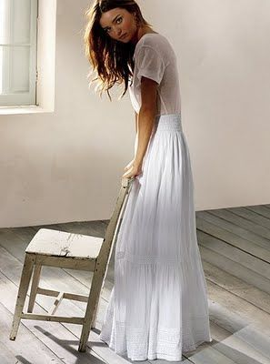 Gorgeous Long White Skirt Women S Fashion Fashion