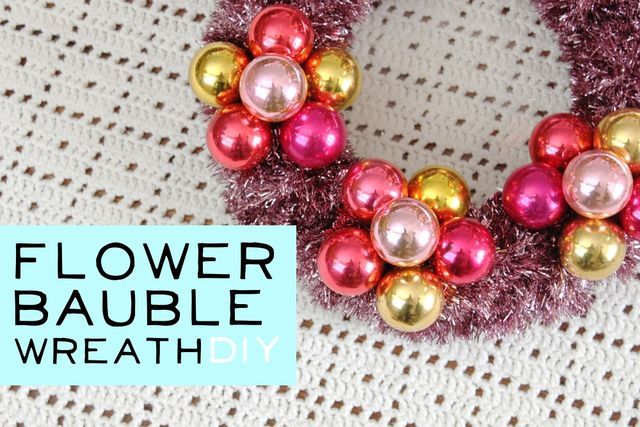 Flower Bauble Wreath DIY