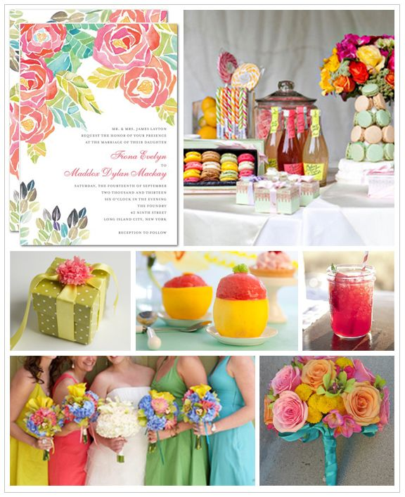 2012 Trends: Rainbow Brights | Spring wedding colors, Bright spring ...