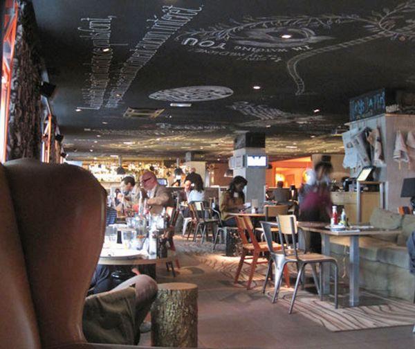 Interiorismo y decoraci n de bares y restaurantes paredes for Decoracion bares tematicos