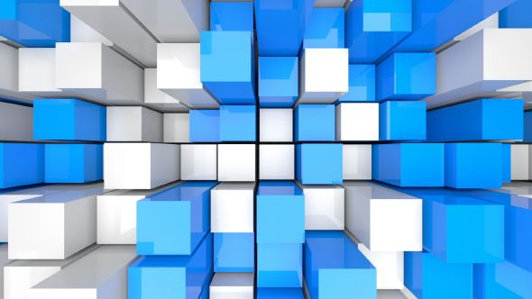 Blue and White Rectangles by Vlad_Chorniy Movement of blue and white rectangles, top view. Seamless looping animation. #displayresolution