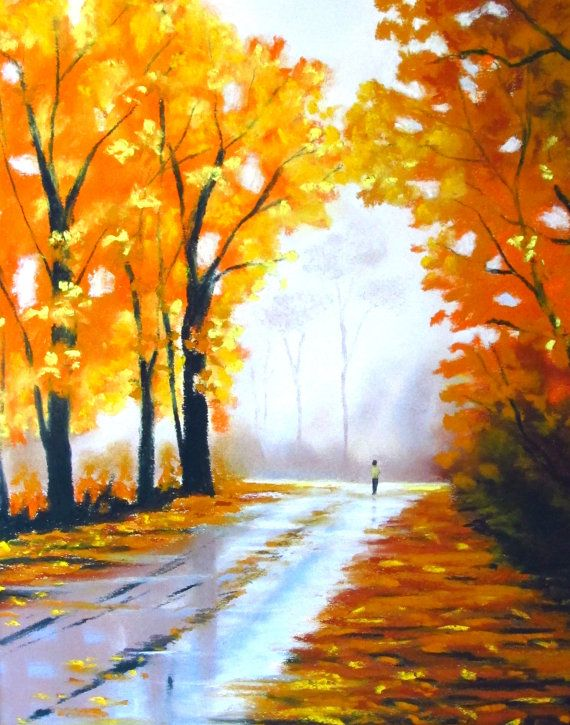 Original Landscape Painting Soft Pastel Flower By Woodenpalette With Images Chalk Pastel Art Pastel Landscape Original Landscape Painting