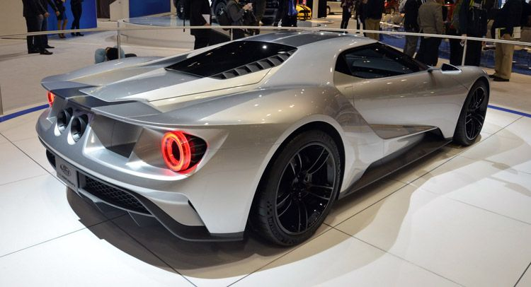 Ford Shows Off New Gt In Liquid Silver Color In Chicago Says It Will Be Built In Canada