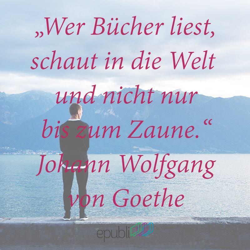 Wer Bucher Liest Schaut In Welt Und Nicht Nur Bis Zum Zaune Johann Wofgang Von Goethe