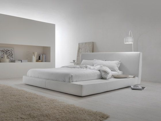 """A modern re-visitation of the classic Japanese bed. The space on the side means the bed can be used as a multi-functional """"island"""", a simple shelf or.."""