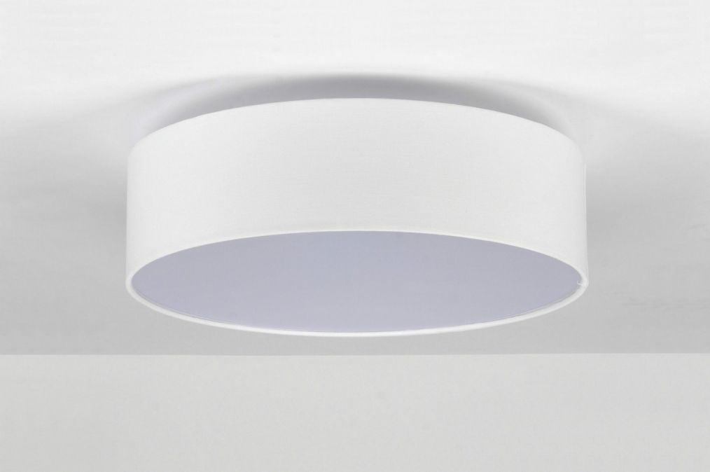 Lampara de techo 71387: Moderno, Blanco, Tela, Redonda | apartamento ...
