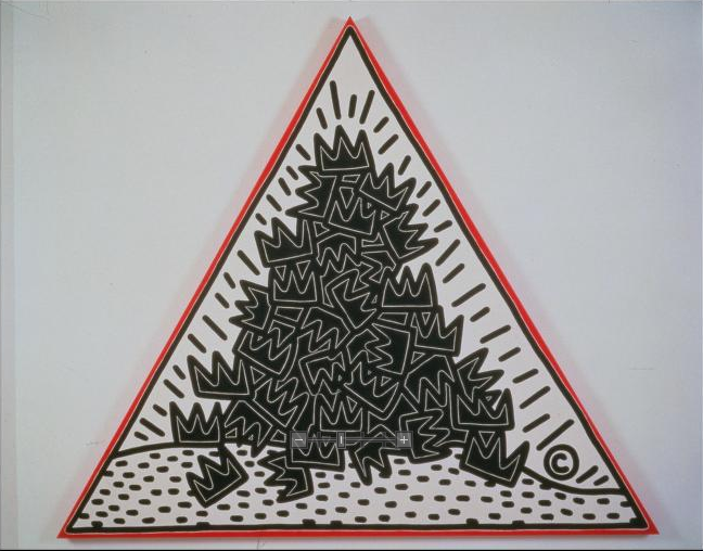 """gianthexagon: """" A Pile of Crowns for Jean-Michele Basquiat by Keith Haring, 1998 """""""