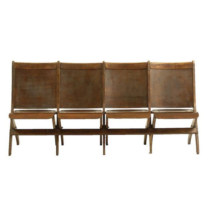 Harlin Auditorium Chairs at Found Vintage Rentals. Wooden auditorium ...