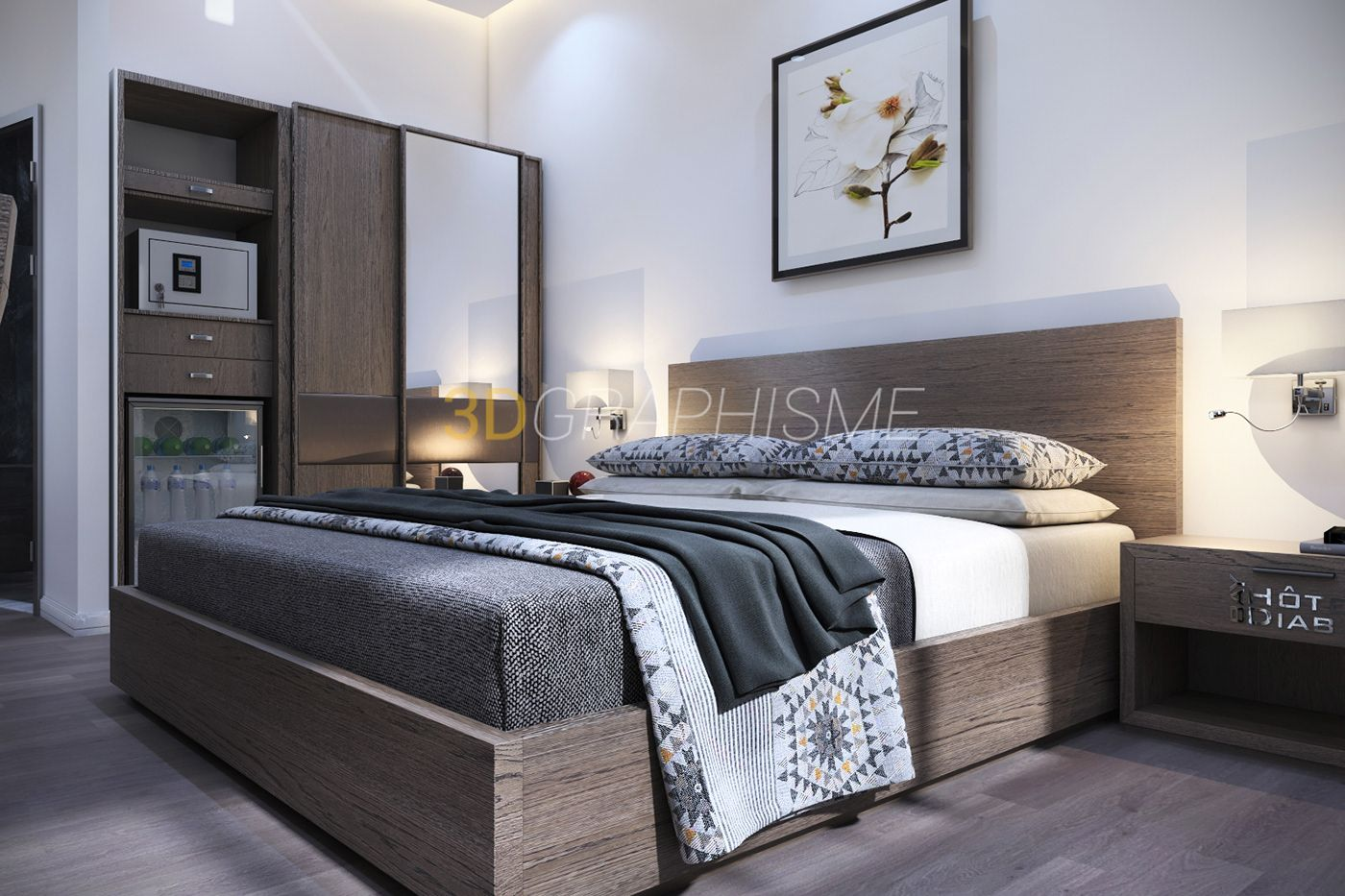 Design Furniture Bab Ezzouar bedroom hotel - bay diab on behance