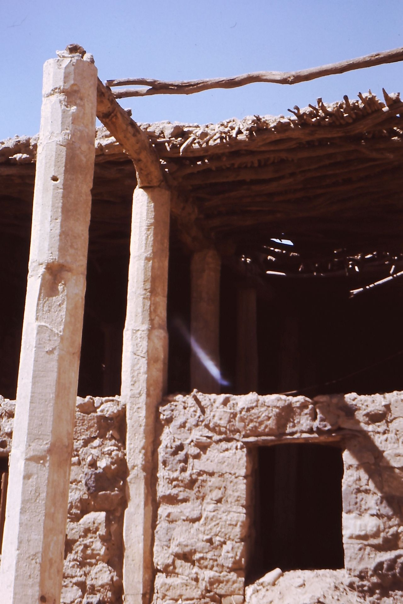 Destroyed buildings old town of Marib