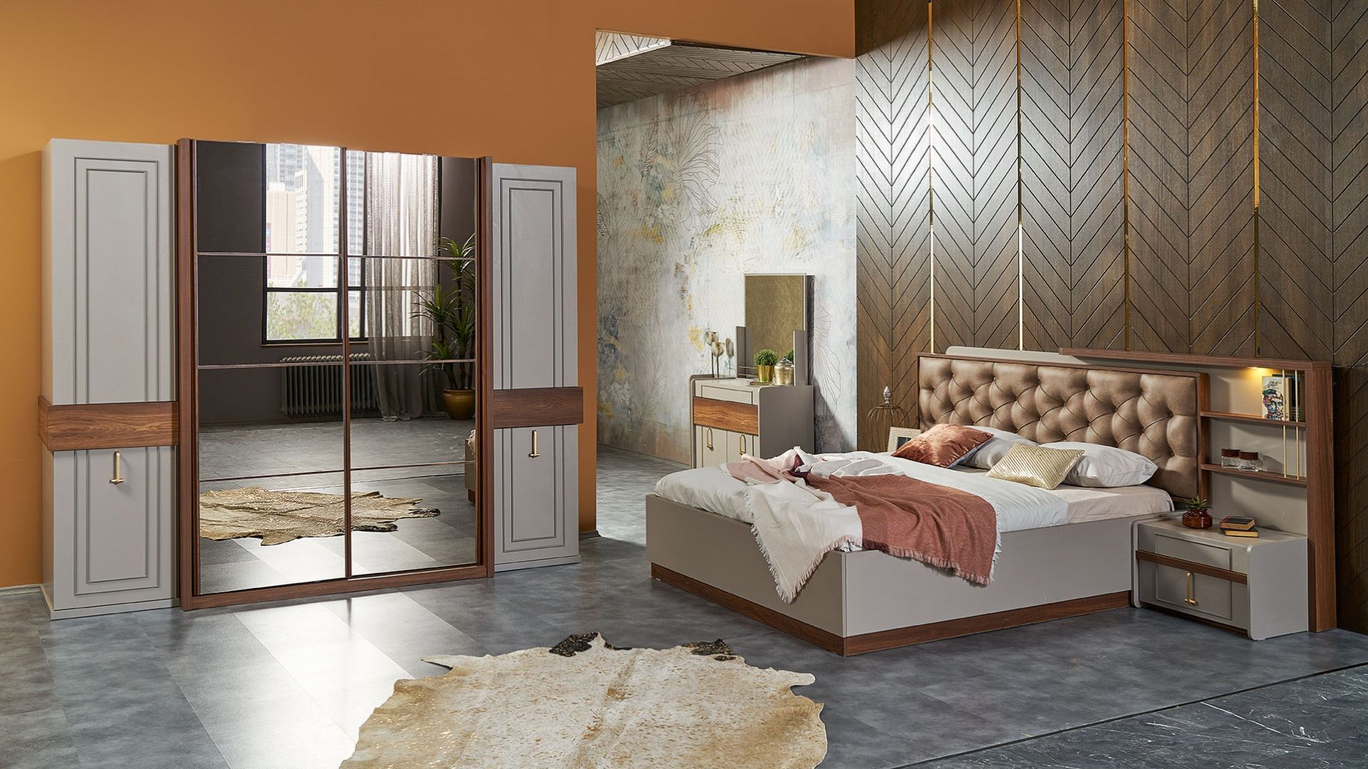 غرفة نوم مودرن Simple Bedroom Bed Design Furniture Modern Bedroom