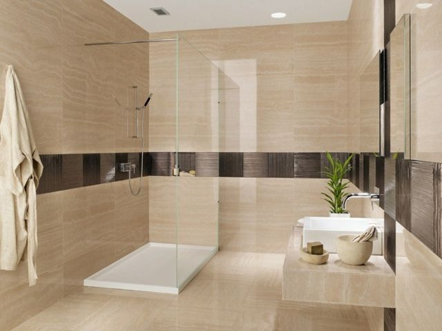 Carrelage salle de bains 30 id es inspirantes votre for Salle de bain carrelage gris et beige