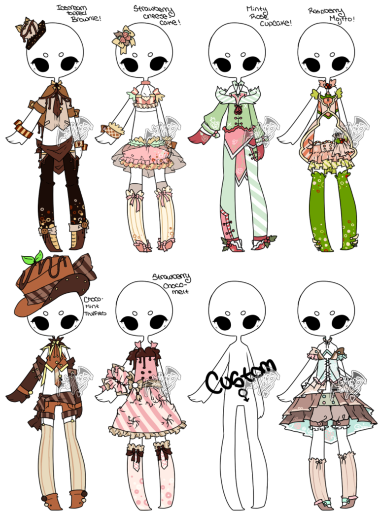 [Adoptable+Offer] Outfit Batch 05 [4/8] by DevilAdopts