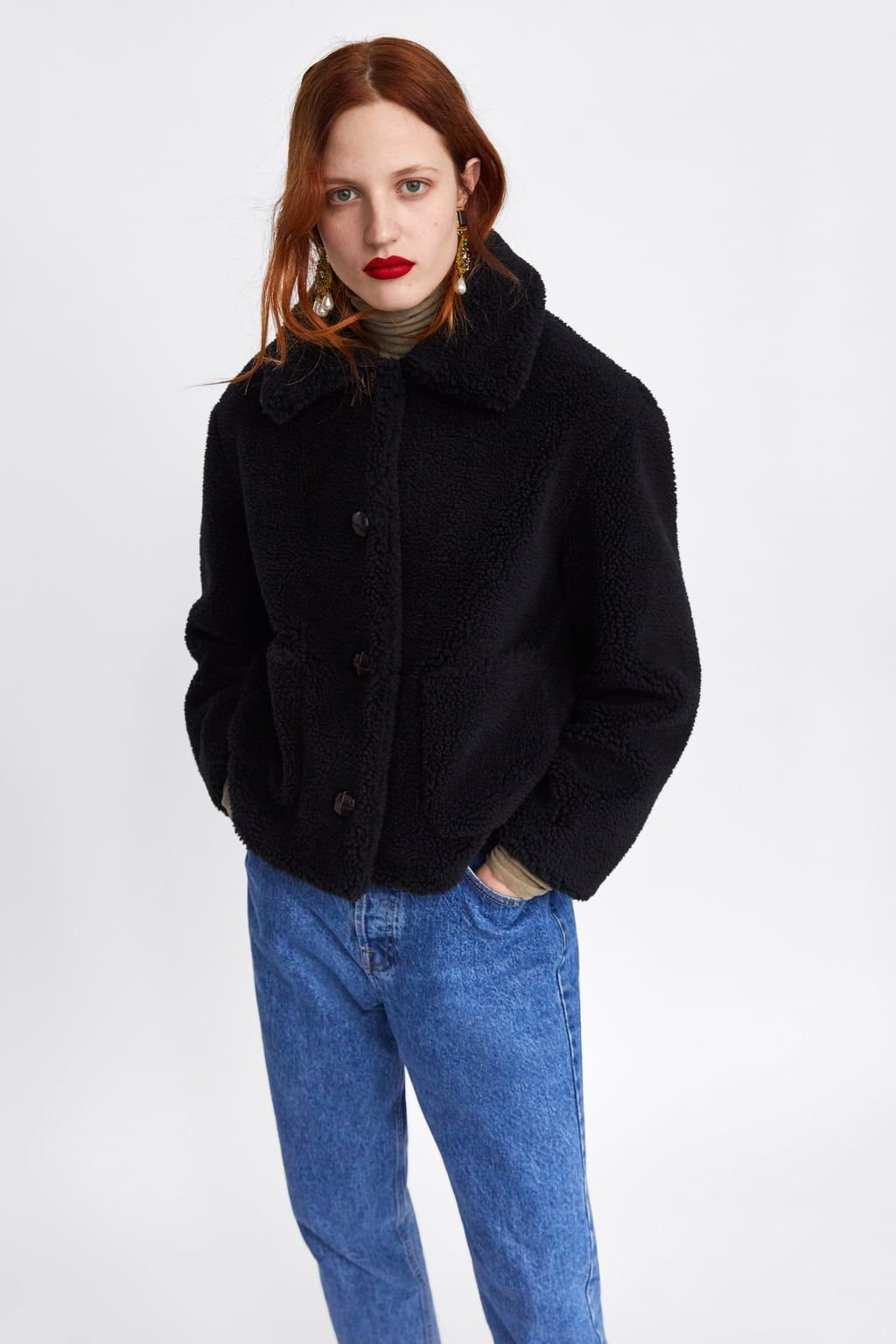 FAUXSHEARLINGTEXTURED JACKET Available in more colours