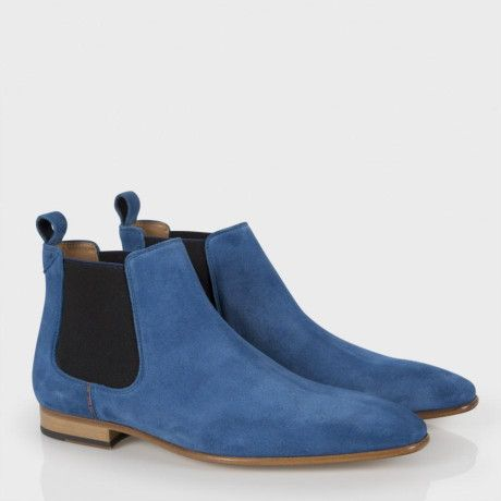9417bb13075 Paul Smith Blue Suede  Falconer  Chelsea Boots in Blue for Men