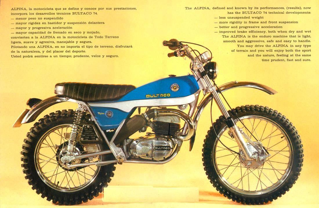 1974 BULTACO ALPINA 250 M115