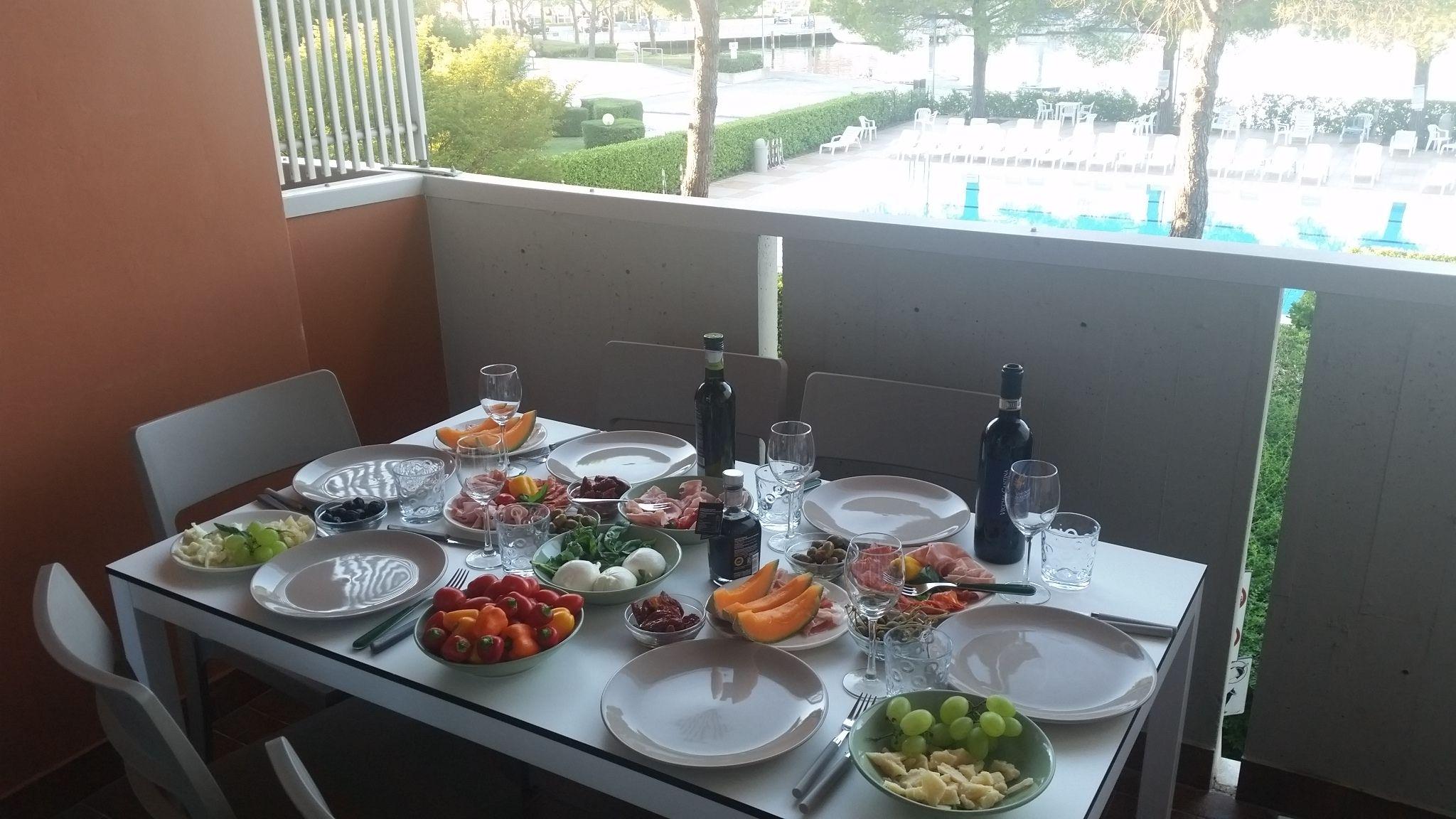 Abendessen im Appartamento Verde