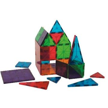 Clear Colors Magna-Tiles - a favorite toy of my almost 4 year old. Waiting to get more - major production delays due to flooding in Thailand.