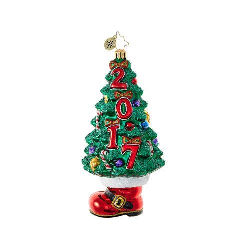 Christopher Radko Ornaments   Radko Dated Booty Under the Tree 1018681 - Christopher Radko Ornaments Radko Dated Booty Under The Tree