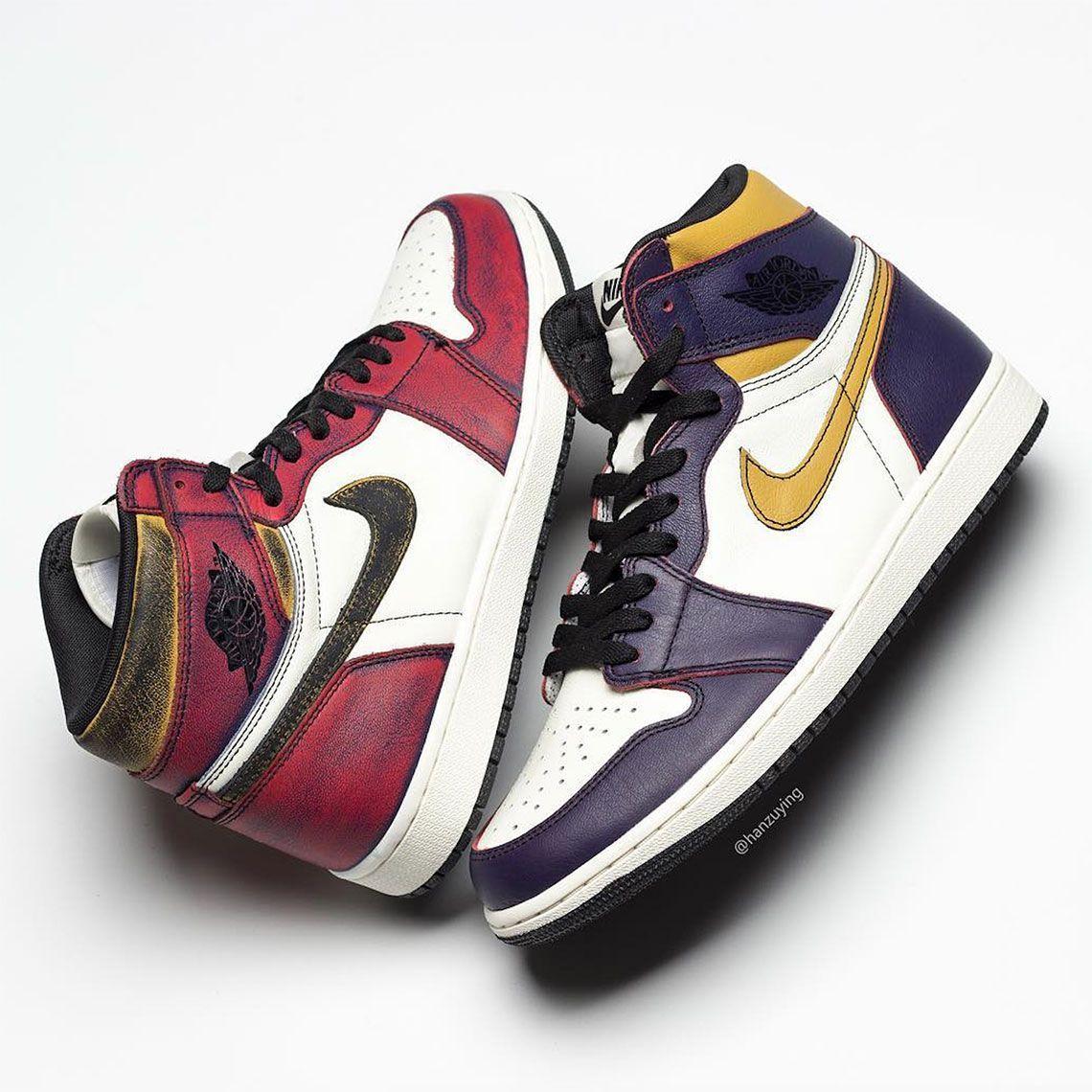 liderazgo Arqueológico Anticuado  Air Jordan 1 SB Shoes - Lakers Bulls | SneakerNews.com | Air jordans,  Jordans, Nike sb