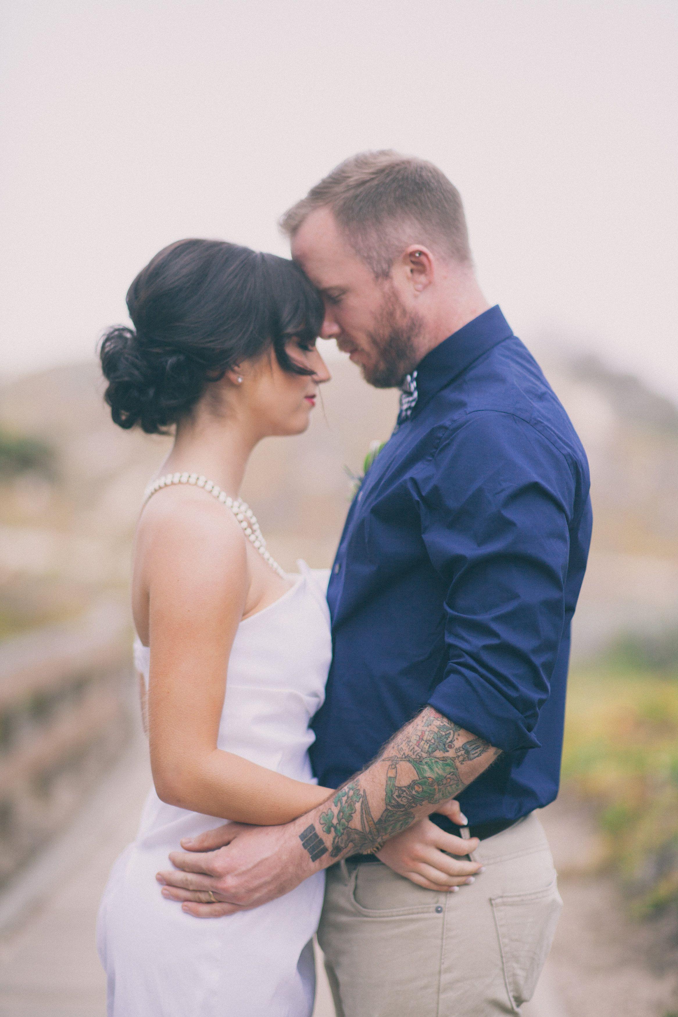 Non Traditional Wedding Dress By Starletteohara Pismo Beach Boardwalk Seashells Photography Alexandra Wallace Designing